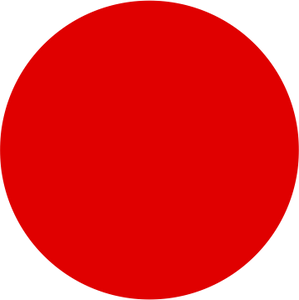 Red Single Colour Label