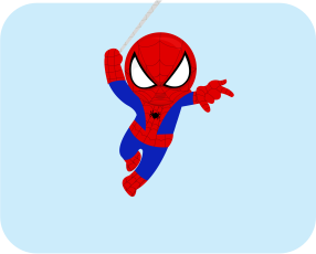 Spiderman Label Bold Badger Design