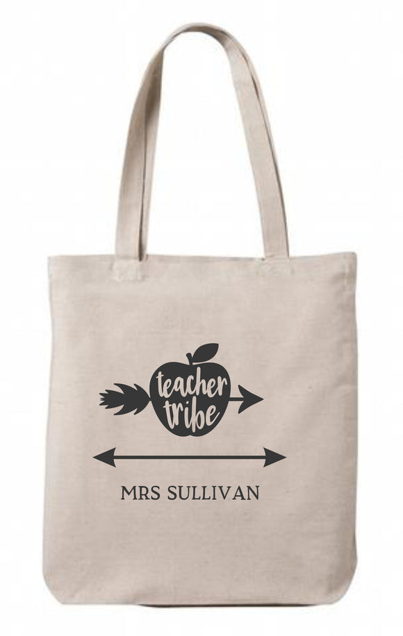 Personalised Teacher Tribe Canvas Tote