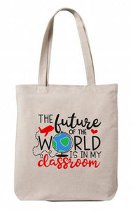 The Future of the World Canvas Tote