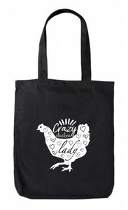 Canvas Tote - Crazy Chicken Lady