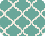 Quatrefoil Darkmint Label