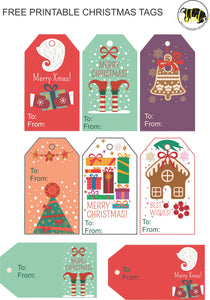 picture relating to Christmas Tags Printable named No cost Xmas Tags PRINTABLE Ambitious Badger Style and design