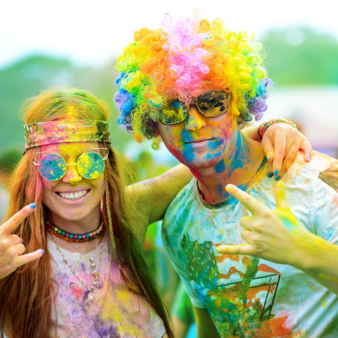 A couple with Colour Powder on them