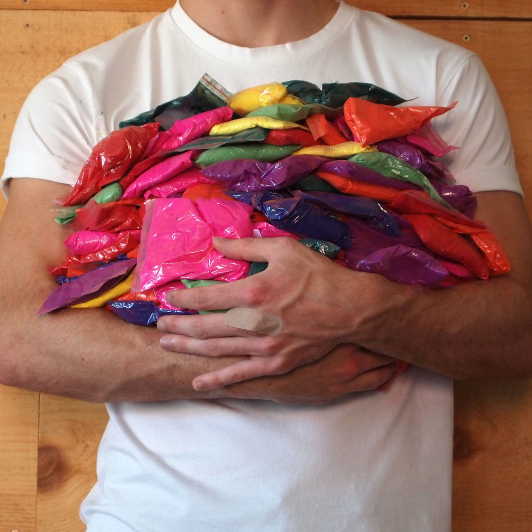 Premium colour powder bags for colour run fundraising school activity race holi gender reveal