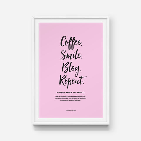 Coffee Blogger Print
