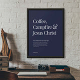 Good Men Drink Coffee Print