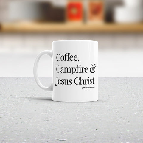 Coffee, Campfire & Jesus Christ Mug