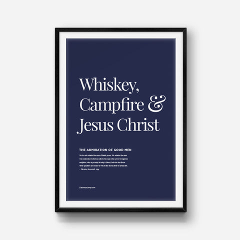 Good Men Drink Whiskey Print