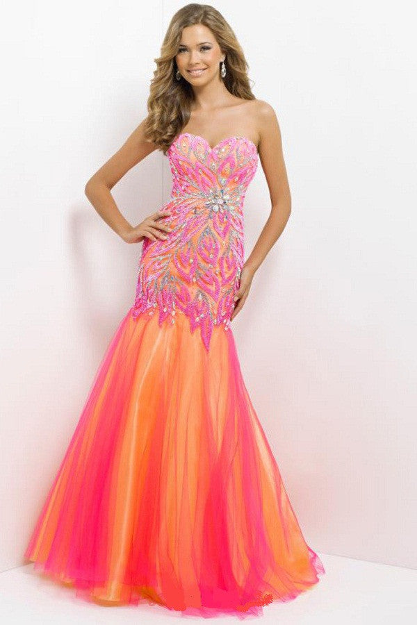 Blush Neon, Mermaid Gown – Elegance Bridal and Beauty Lounge