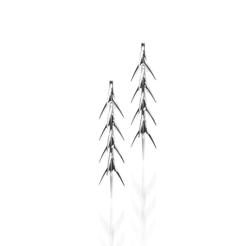 The CALATRAVA Drop Earrings | 14k Solid White Gold