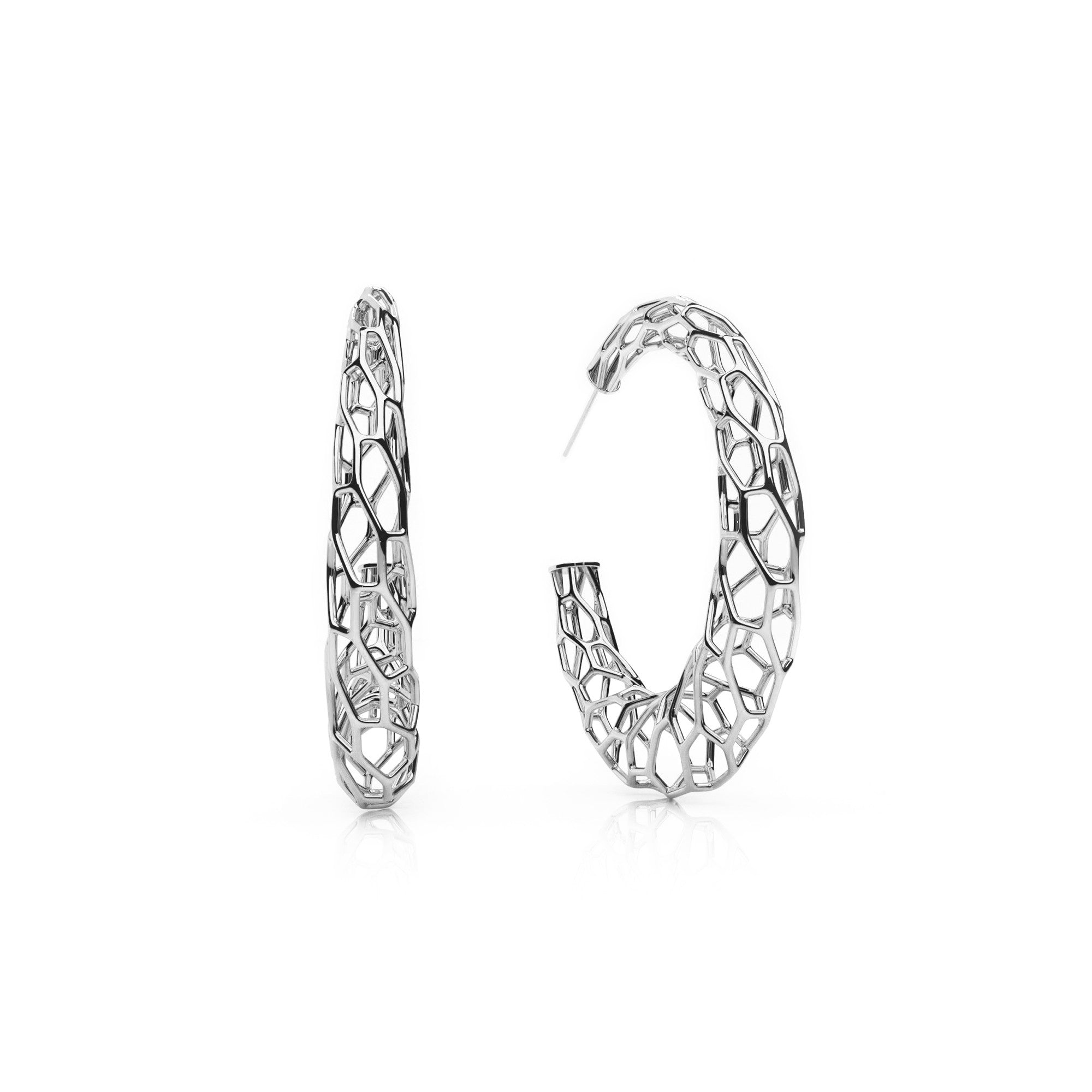 plated large earrings cz zirconia product cubic stud studs round jewellery platinum zoom
