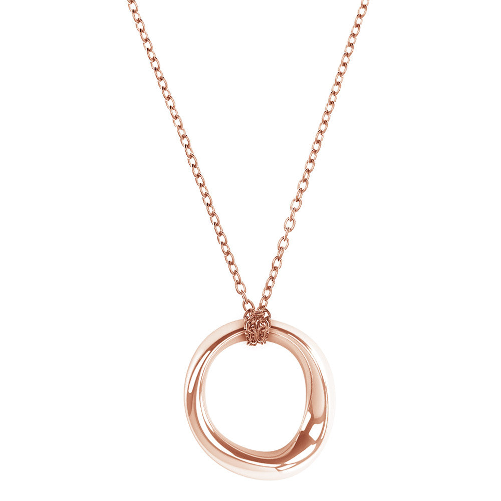 The FLOW Pendant Loop in 3D Printed 14k Solid Rose Gold