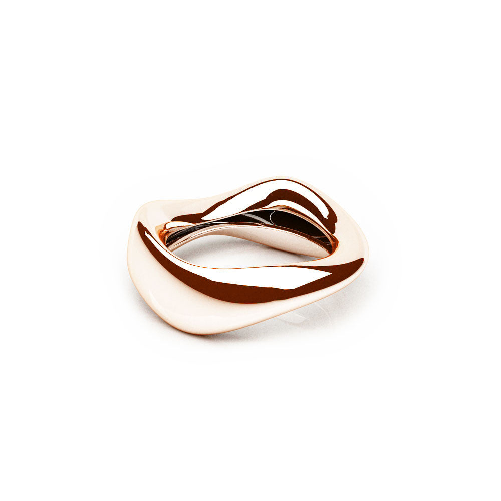 The FLOW Ring | 14k Solid Rose Gold