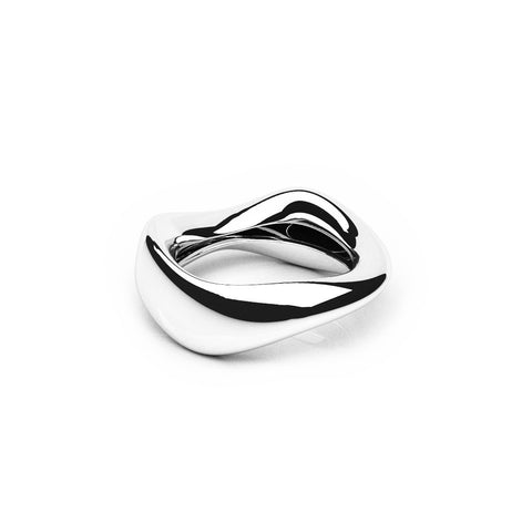 The FLOW Ring | 14k Solid White Gold