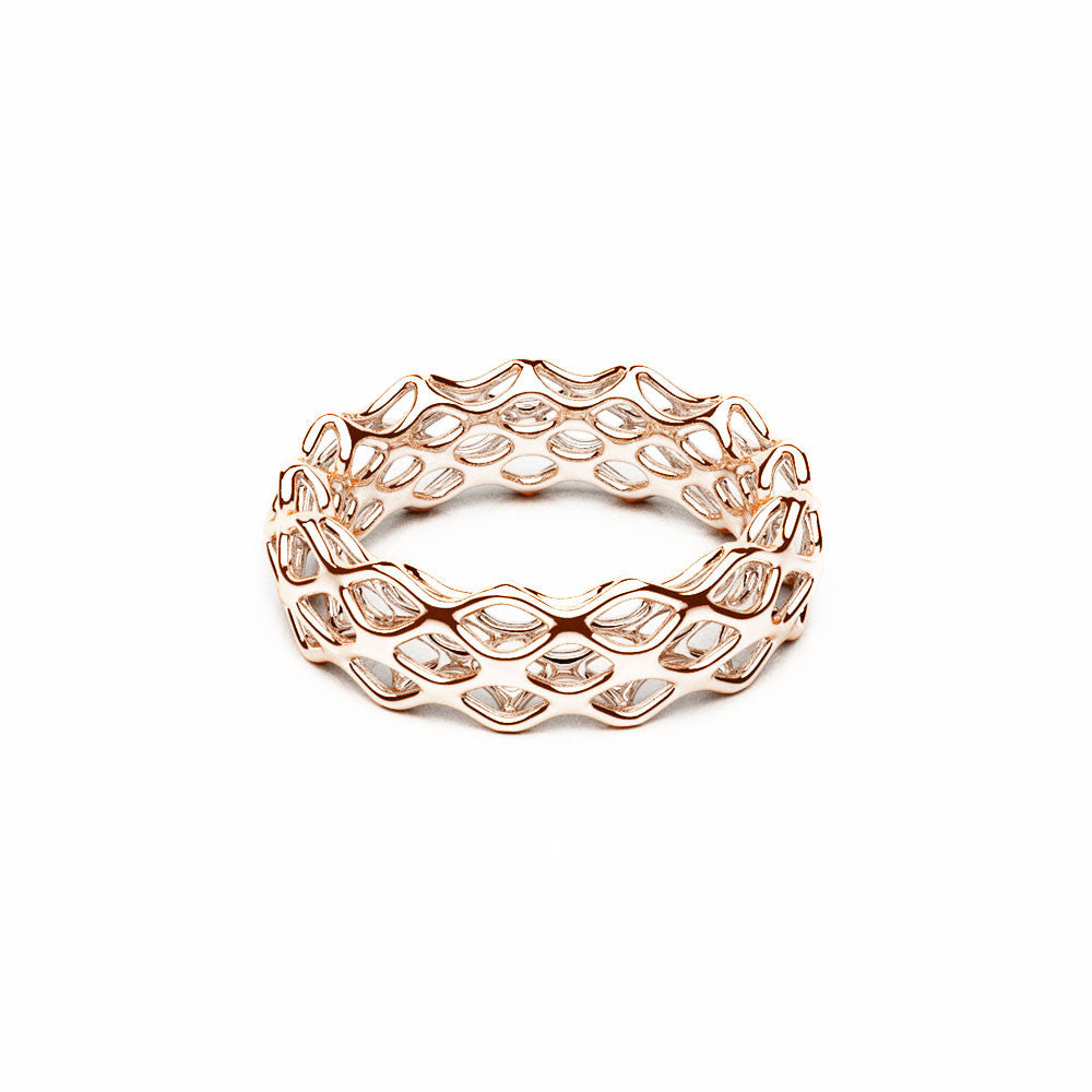 The Grid Ring | Double Slim | 18k Rose Gold...