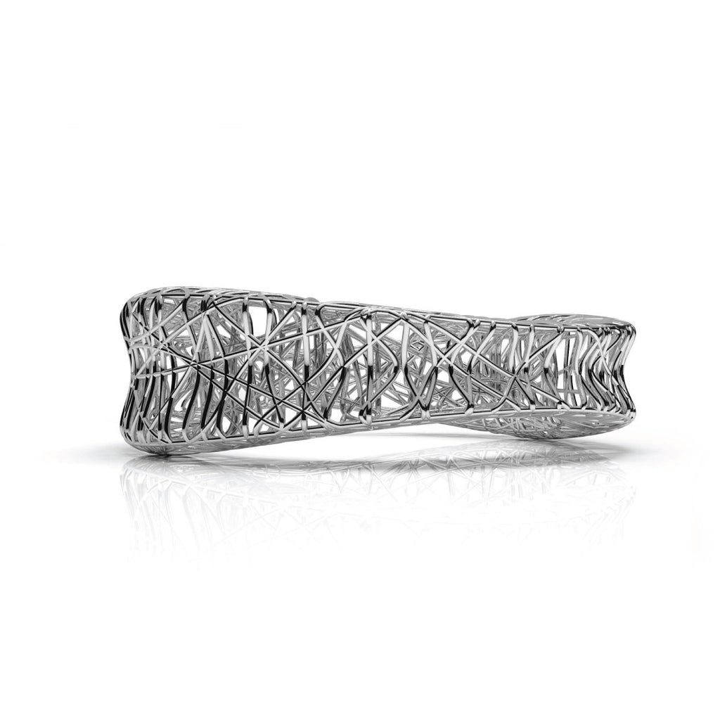 The HERZOG Bangle | 14k Solid White Gold