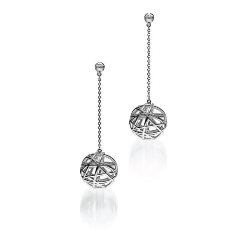 The HERZOG Drop Earrings | 14k Solid White Gold