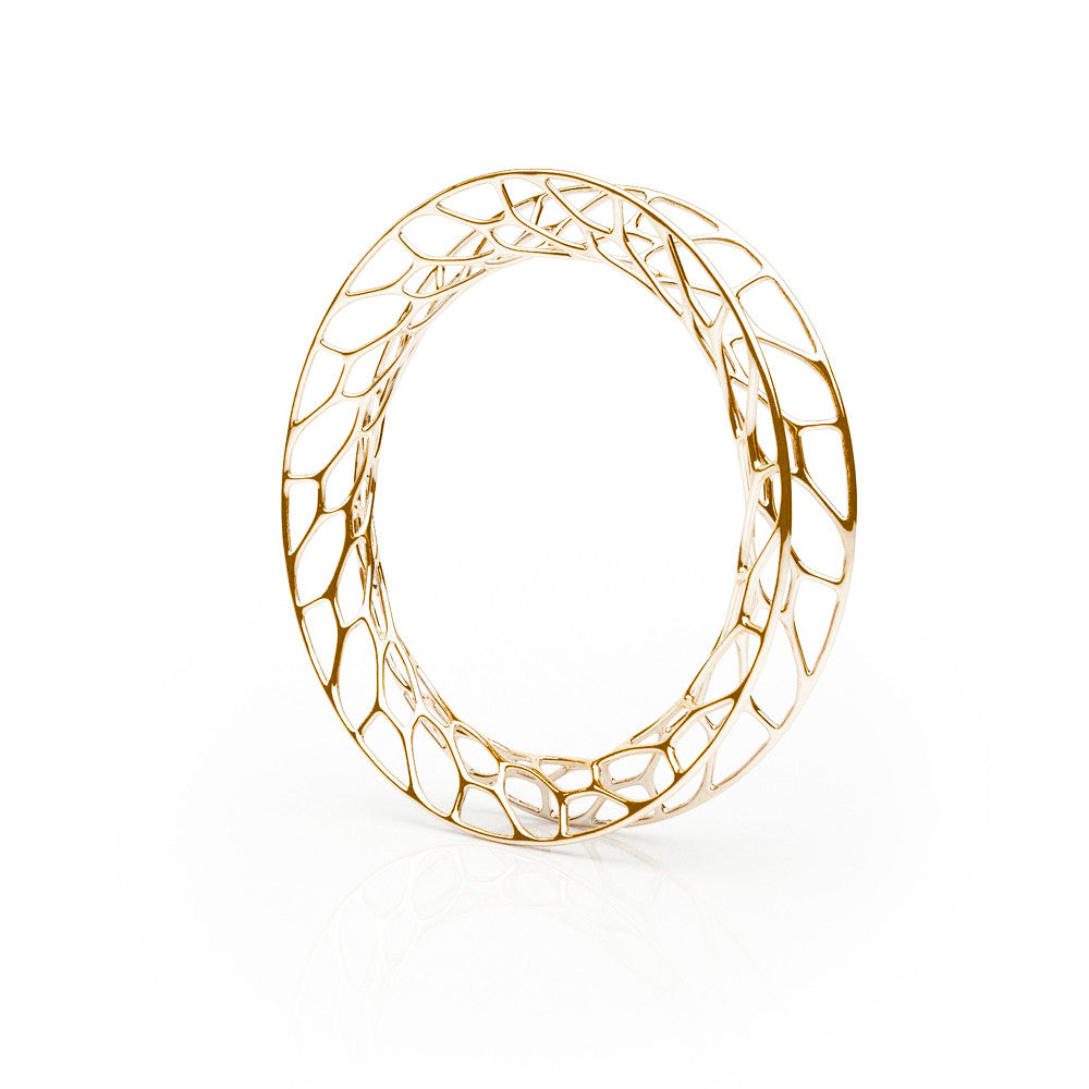 The Hive Bangle | Flared | 18k Gold Sterling