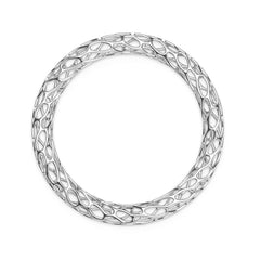 The HIVE Bangle Double Wave in 3D Printed Platinum Finished 925 Sterling SIlver