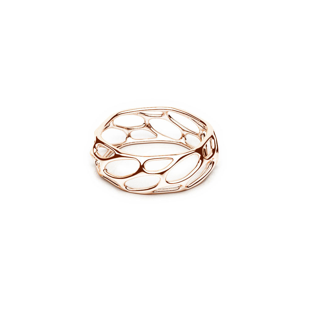 The HIVE Ring | Slim | 14k Rose Gold Sterling