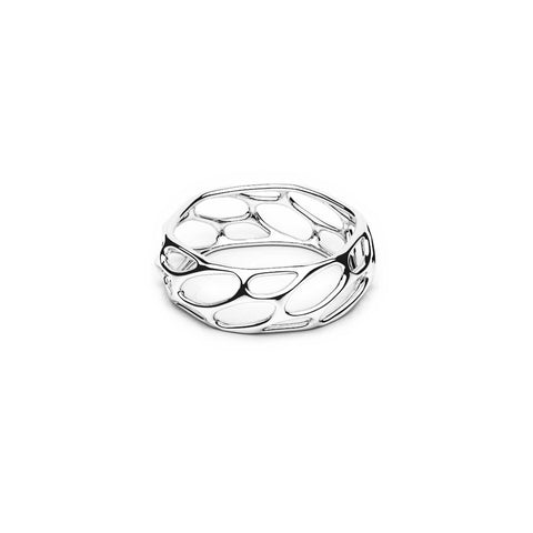 The HIVE Ring | Slim | Platinum Sterling