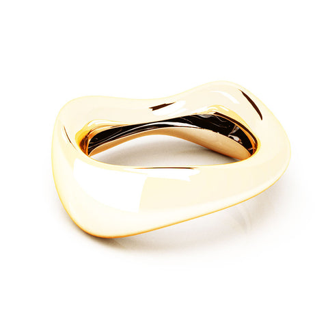 The FLOW Bangle | 14k Solid Gold