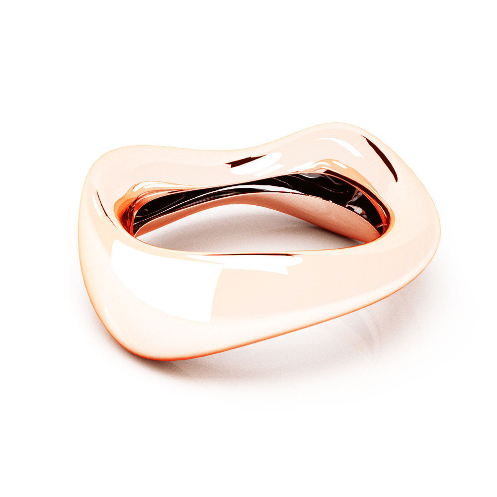 The FLOW Bangle | 14k Solid Rose Gold