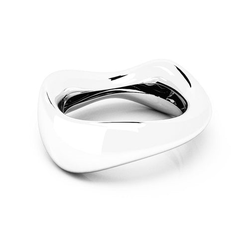 The FLOW Bangle | 14k Solid White Gold