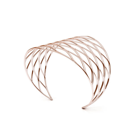 The GRID Cuff | VOGUE | 14k Rose Gold Sterling
