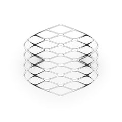 The GRID Cuff | VOGUE | Platinum Sterling