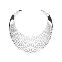 The GRID Necklace | Bib | Platinum Sterling