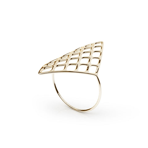 The GRID Ring | VOGUE | 18k Gold Sterling