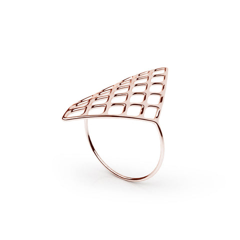 The GRID Ring | VOGUE | 14k Rose Gold Sterling