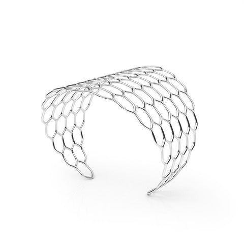 The HIVE Cuff | VOGUE | Platinum Sterling