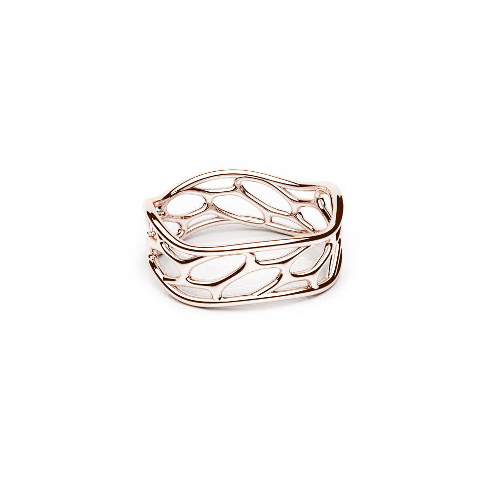 The Hive Ring | Wave | 18k Rose Gold Sterling