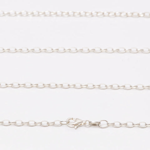 Sterling Silver Opera Length Necklace