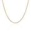 18K Yellow Gold Cable Chain Necklace 45cm