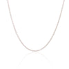 18K White Gold Cable Chain Necklace 45cm