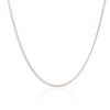 9K White Gold Curb Chain Necklace 45cm