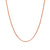 9K Rose Gold Curb Chain Necklace 45cm