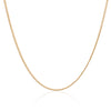 9K Yellow Gold Curb Chain Necklace 45cm