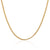 18K Yellow Gold Diamond Cut Curb Chain Necklace 45cm