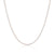 18K White Gold Diamond Cut Curb Chain Necklace 45cm