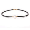 18K Yellow Gold Australian South Sea Cultured Pearl Neoprene Necklace