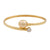 18K Yellow Gold South Sea Cultured Pearl Bangle