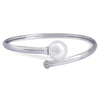 18K White Gold Australian South Sea Cultured Pearl Bangle