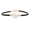 9K Yellow Gold Australian South Sea Cultured Pearl Neoprene Bracelet