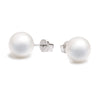 18K White Gold South Sea Cultured Pearl Stud Earrings