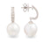 18K White Gold South Sea Cultured Pearl Drop Earrings